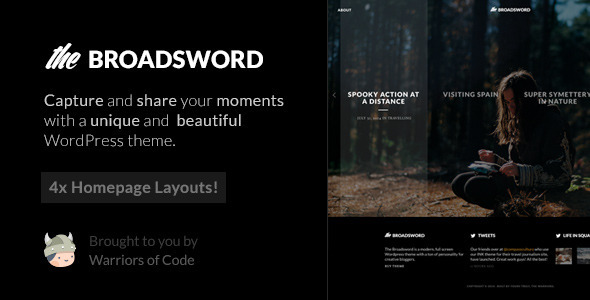 ThemeForest Broadsword A WordPress Theme to Share Stories 10514496
