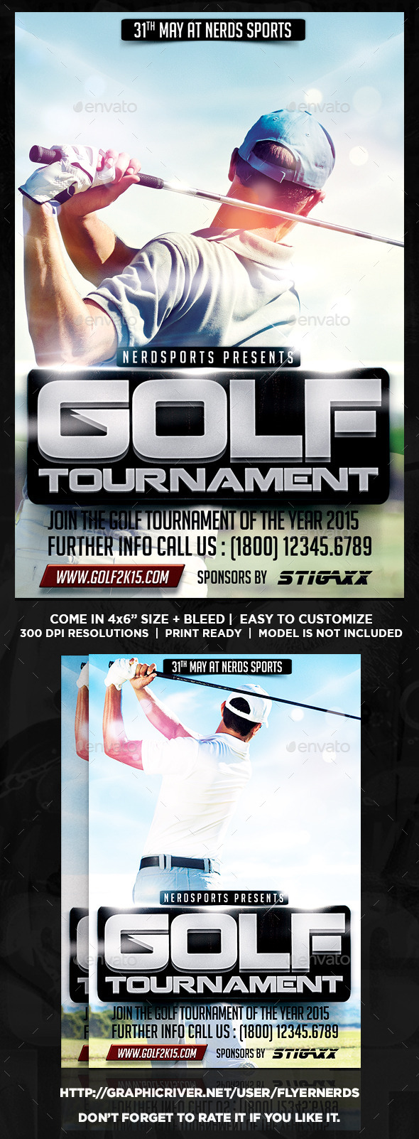 GraphicRiver Golf Tournament Sports Flyer 10514506