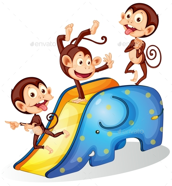 GraphicRiver Monkeys and Slide 10514537