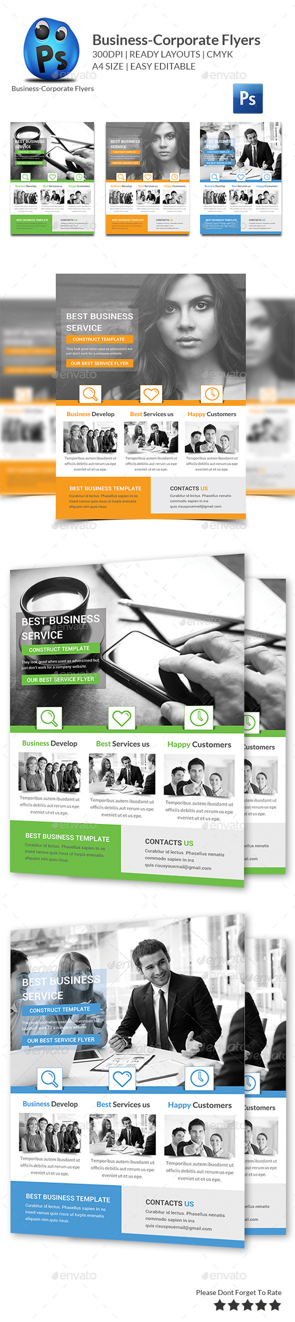 GraphicRiver Best Business Flyers Templates 10515035