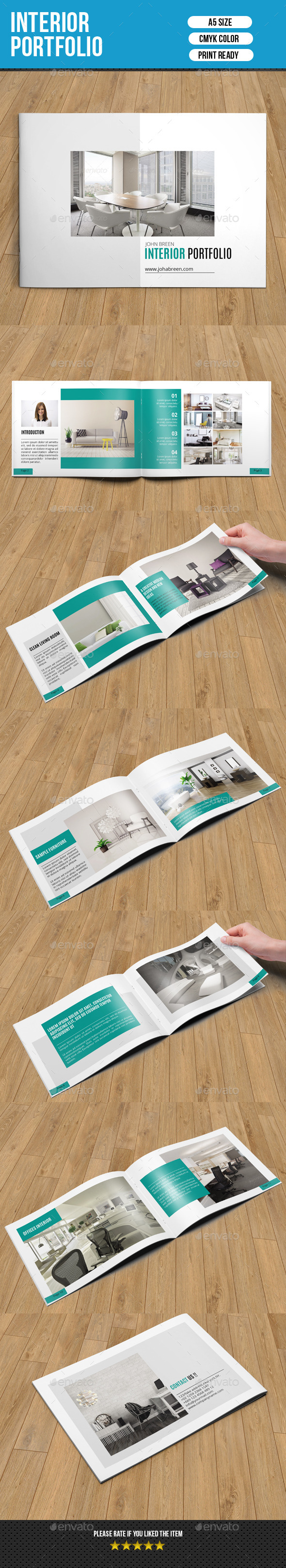 GraphicRiver Clean Interior Design Catalog-V151 10515461
