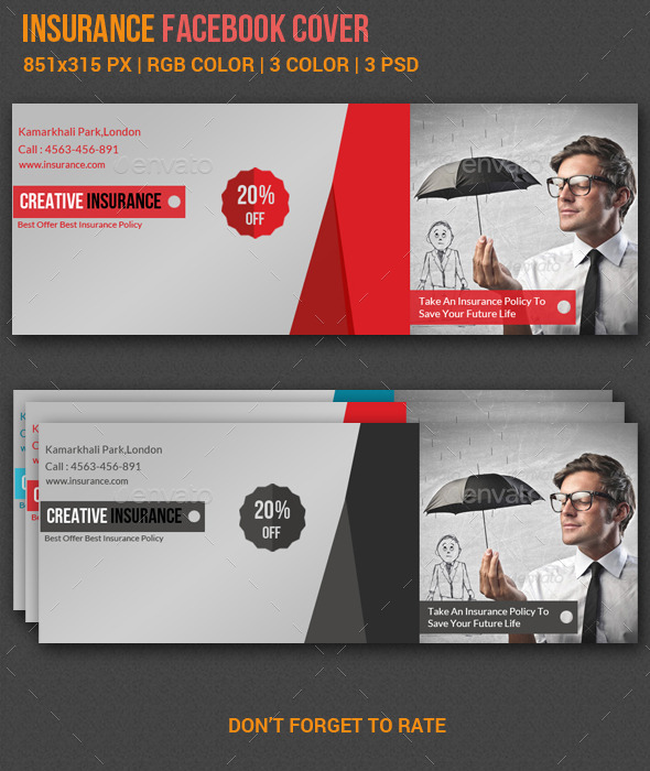 GraphicRiver Insurance Facebook Cover 10515683