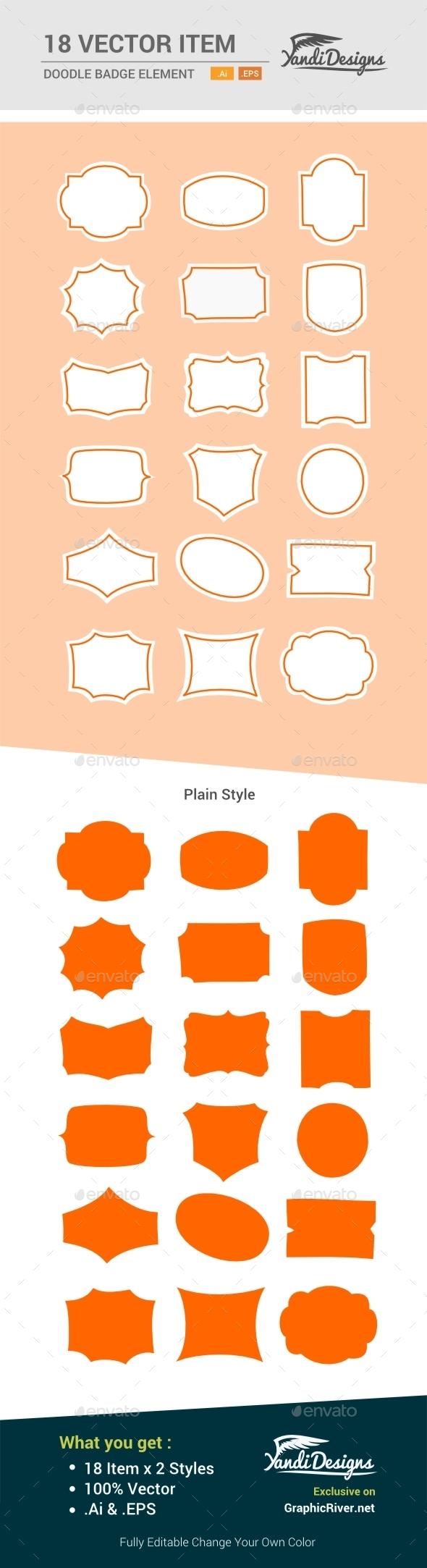 GraphicRiver Doodle Badge Element 10515775