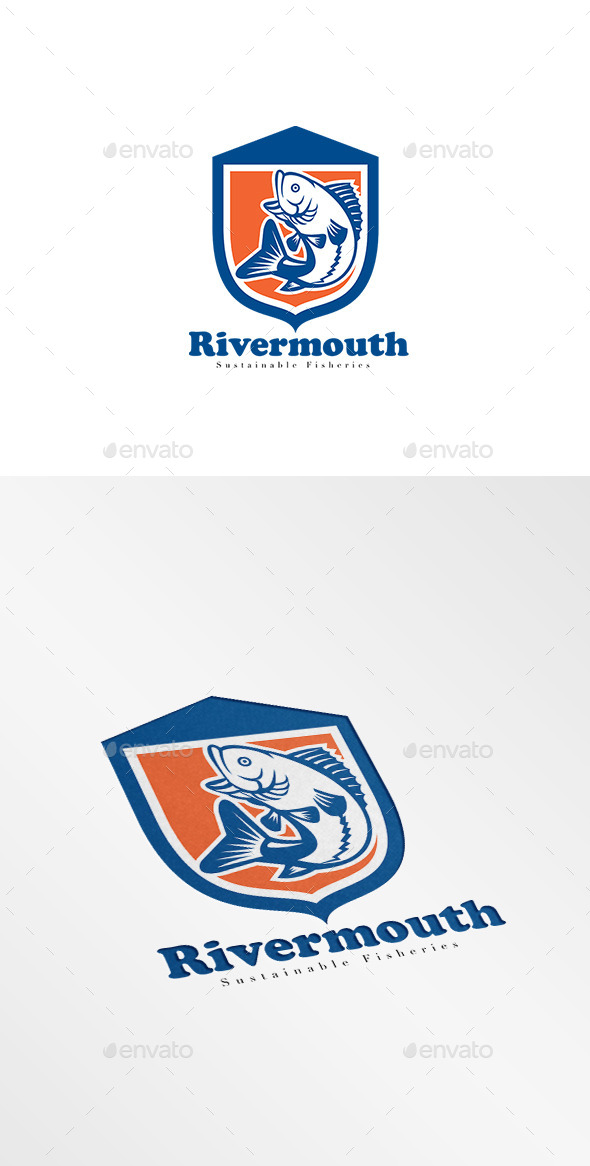 GraphicRiver Rivermouth Sustainable Fisheries Logo 10516834