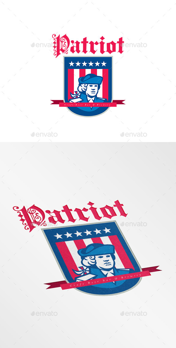 GraphicRiver Patriot Bar and Brewery Logo 10516852