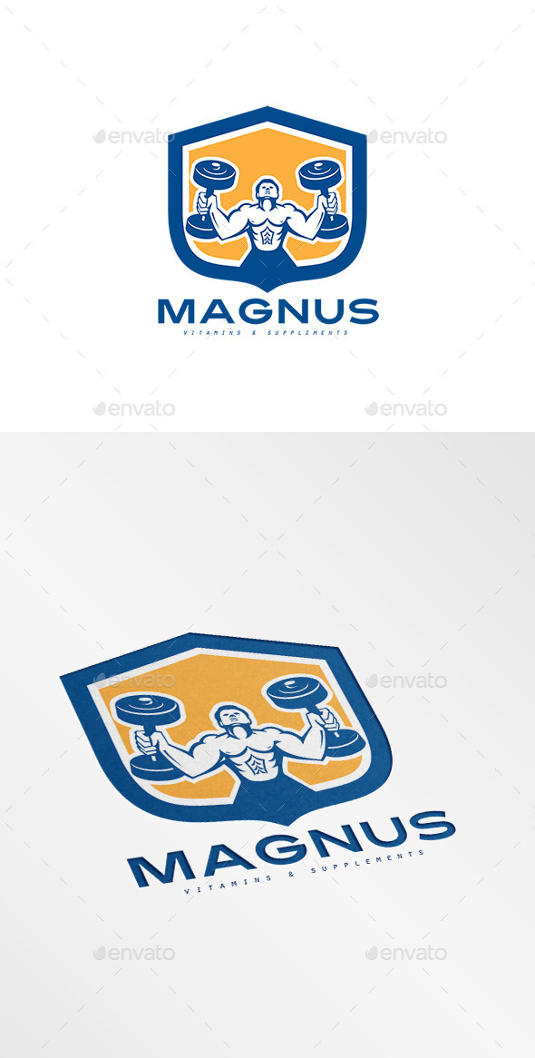 GraphicRiver Magnus Vitamins and Supplement Logo 10516862
