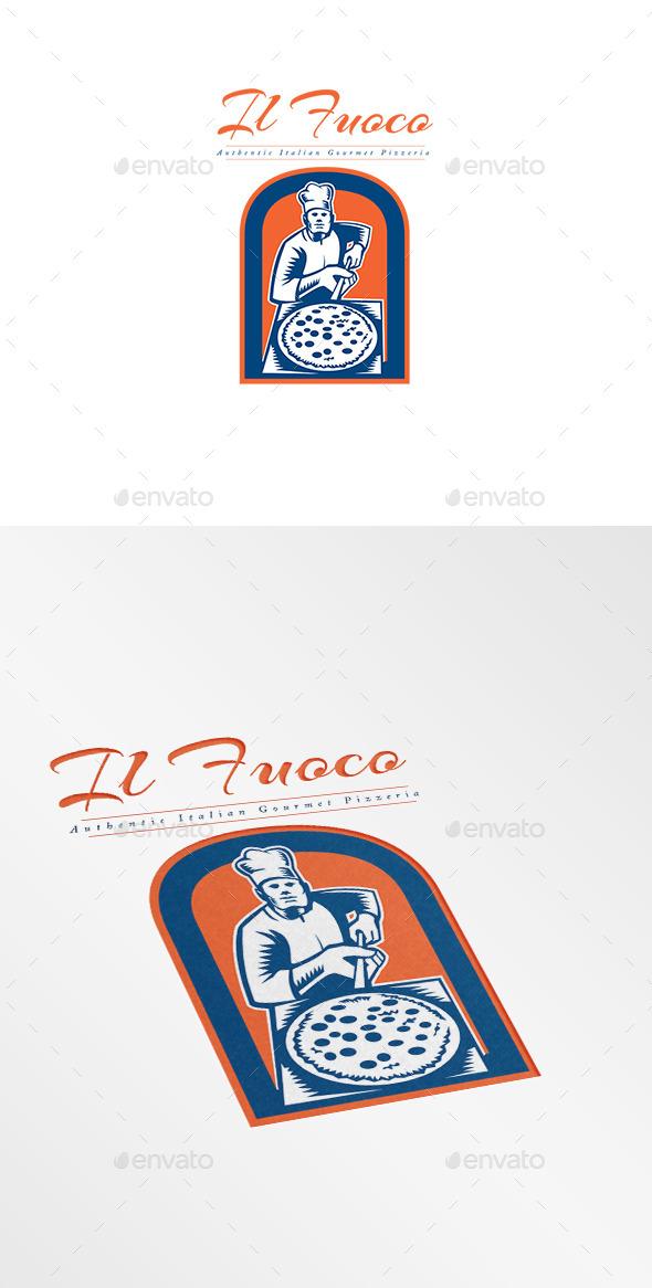 GraphicRiver Il Fuoco Gourmet Pizza Logo 10516870