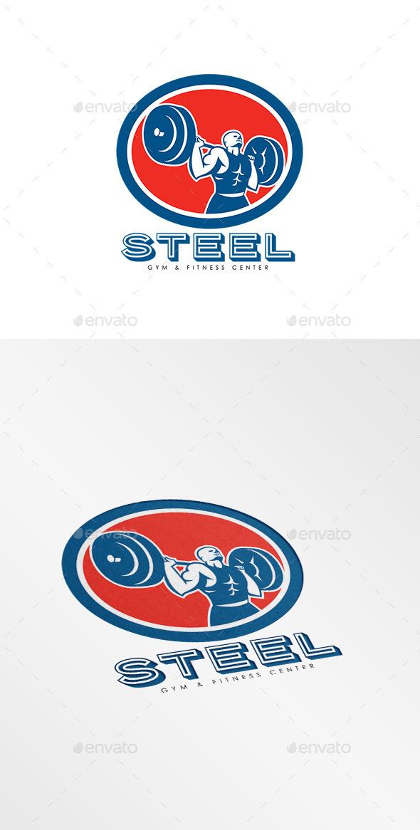 GraphicRiver Steel Gym Fitness Center Logo 10516875