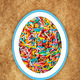 Colorful easter background with different sweets - PhotoDune Item for Sale