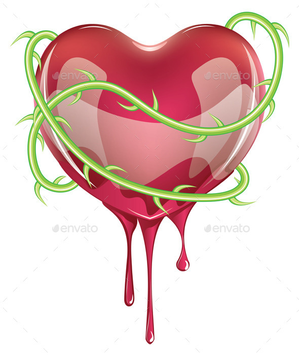 GraphicRiver Bleeding Red Heart 10517807