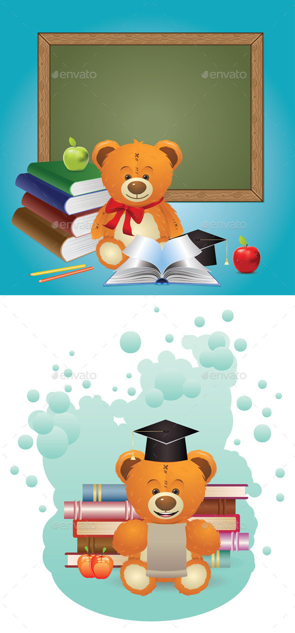 GraphicRiver School Teddy Bear 10517948