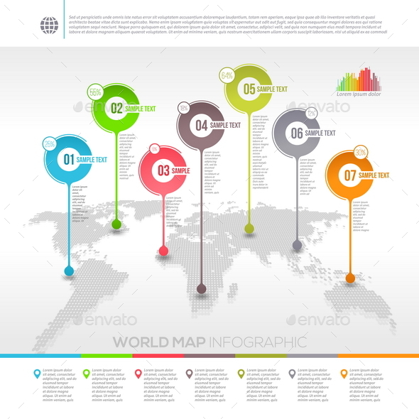 GraphicRiver World Map Infographic with Map Pointers 10518270