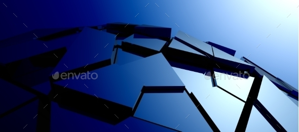 GraphicRiver Abstract Background of 3D High Tech Structure 10518780