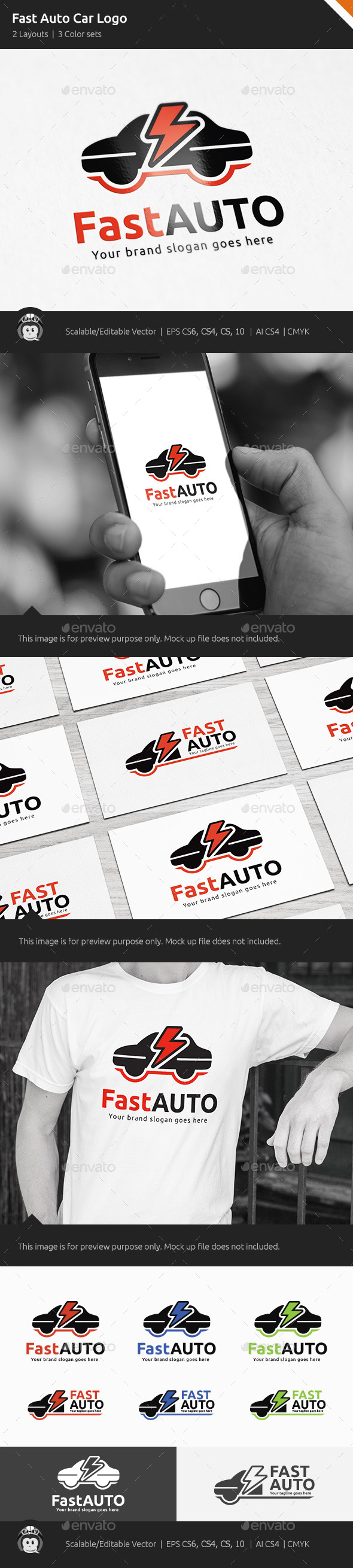 GraphicRiver Fast Auto Car Logo 10518785