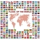 Flags of the world with Map  - GraphicRiver Item for Sale