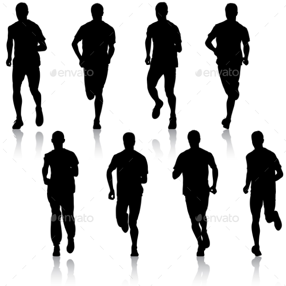 GraphicRiver Running Silhouettes 10518833