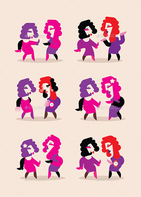GraphicRiver Two Dancing Women 10518999