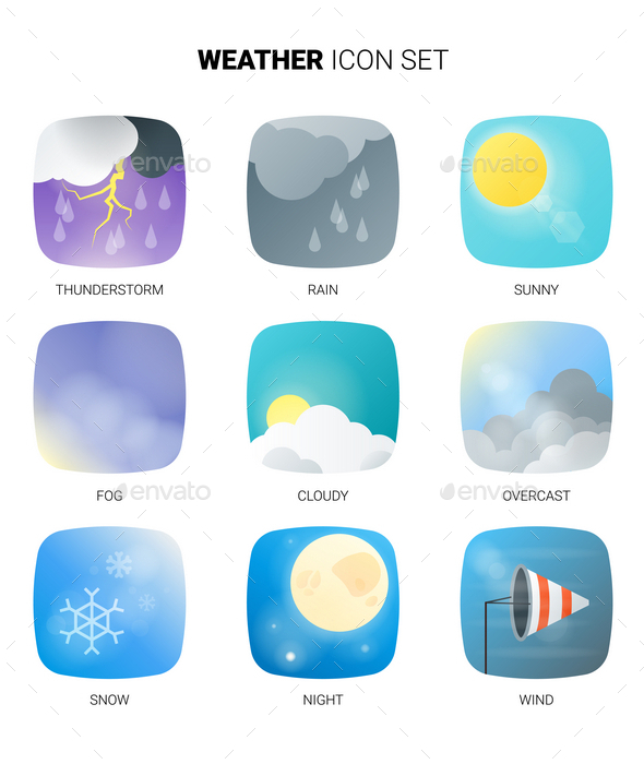 GraphicRiver Weather Icon Set 10519008