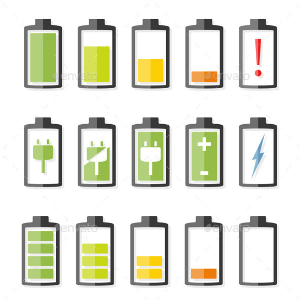 GraphicRiver Battery Icons 10519016