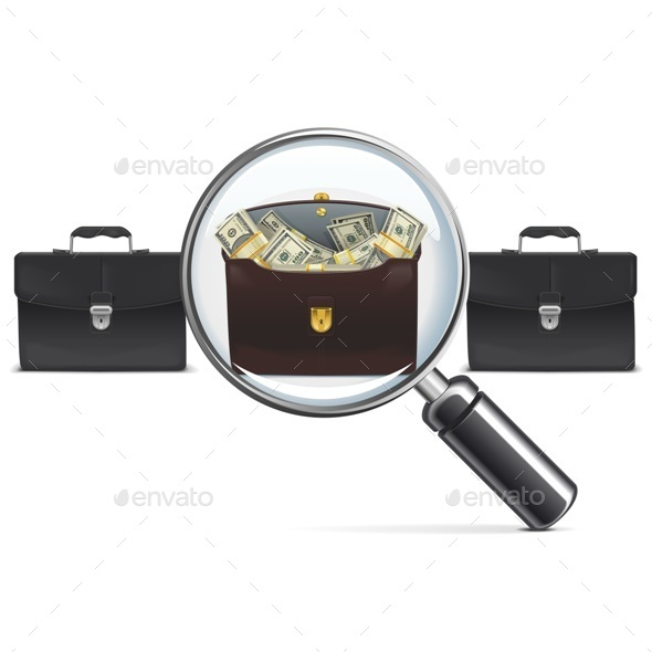 GraphicRiver Investment Briefcase with Lens 10519047
