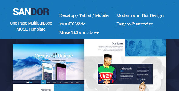 ThemeForest Sandor Creative Multipurpose Muse Template 10519133