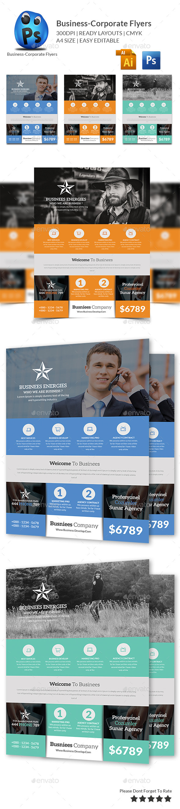 GraphicRiver Smart Business Flyers Template 10519153