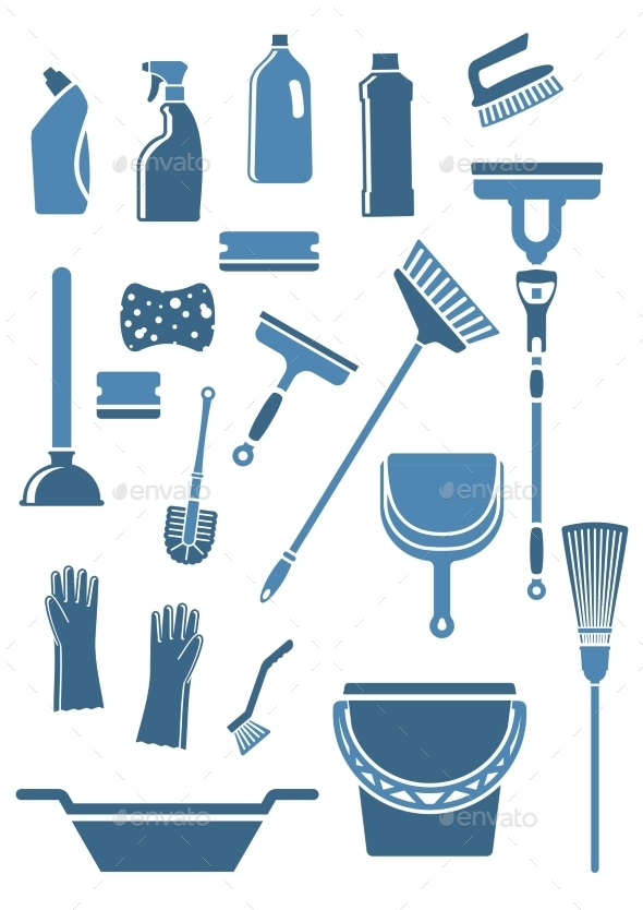 GraphicRiver Domestic Cleaning Tools and Supplies 10519154