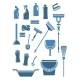 Domestic Cleaning Tools and Supplies - GraphicRiver Item for Sale