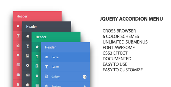CodeCanyon jQuery Accordion Menu 10519303