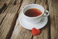 hot tea and red heart - PhotoDune Item for Sale