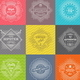 Set of Line Signs and Emblems with Hipster Symbols - GraphicRiver Item for Sale