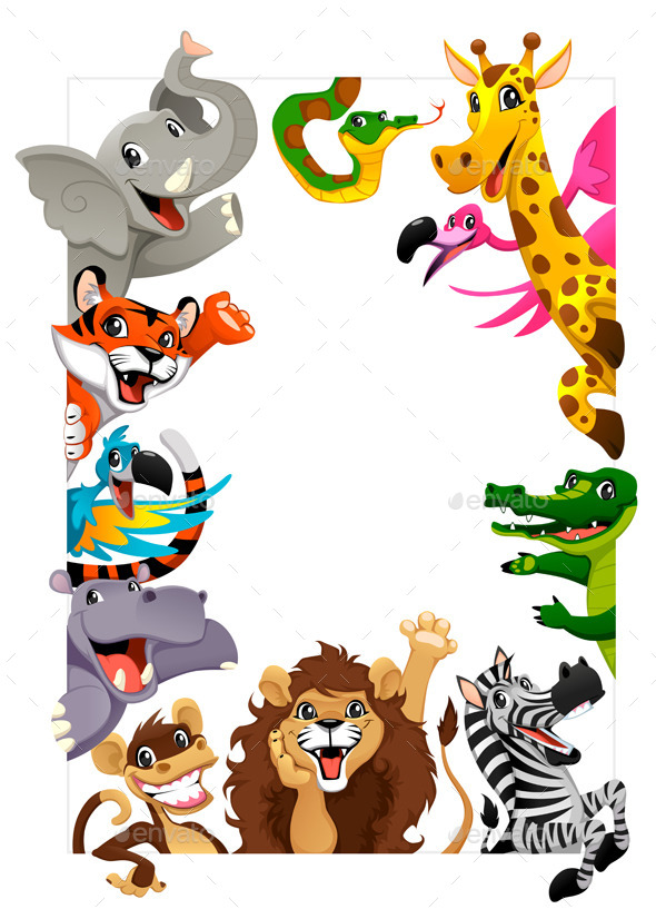 GraphicRiver Group of Jungle Animals 10519761