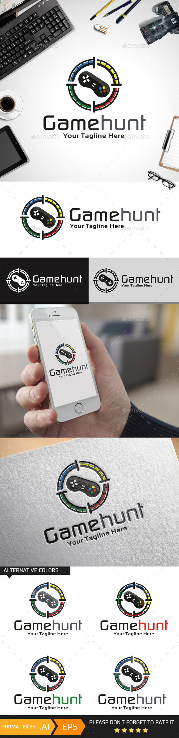 Game Hunt Logo Template