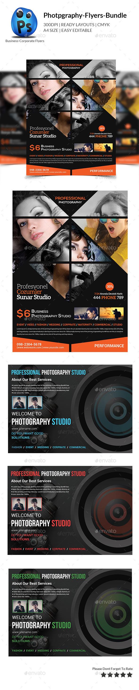 GraphicRiver Photography Flyer Bundle Print Templates 10519800