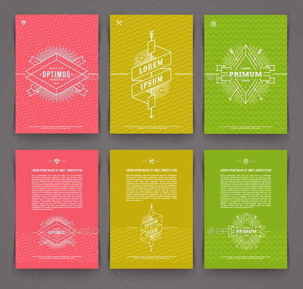 GraphicRiver Set of Abstract Template Flyer Page Design 10520051