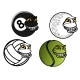Cartoon Sport Balls - GraphicRiver Item for Sale