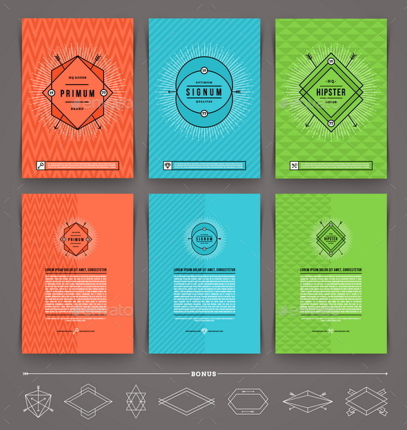 GraphicRiver Set of Abstract Template Flyer Page Design 10520073