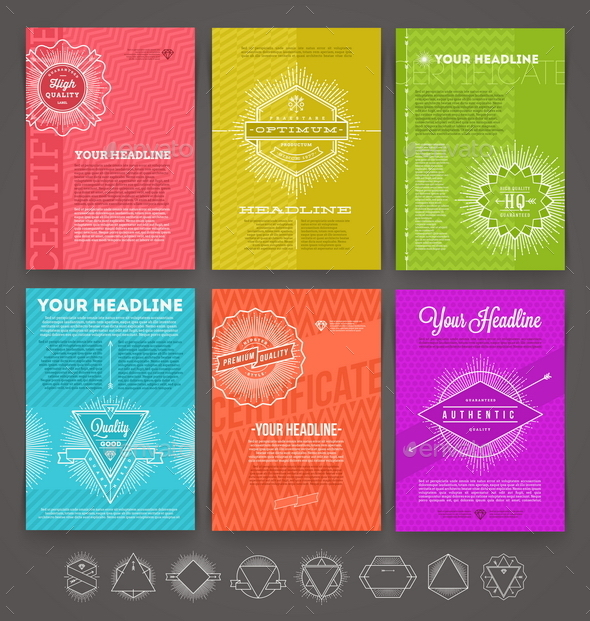 GraphicRiver Set of Abstract Template Flyer Page 10520202