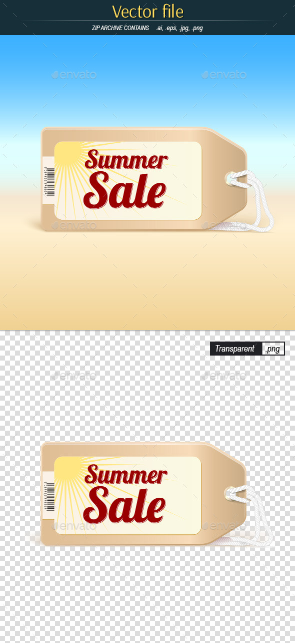GraphicRiver Summer Sale Tag 10520215