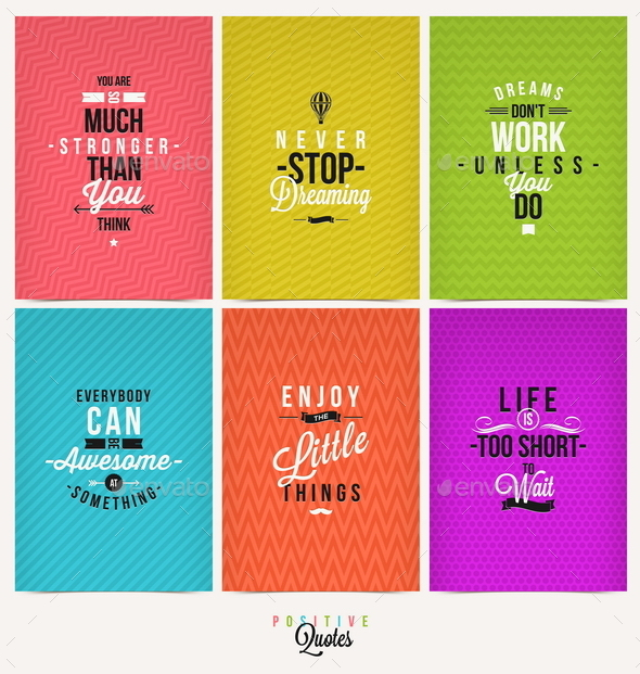GraphicRiver Set of Positive Quote Typographical Background 10520253