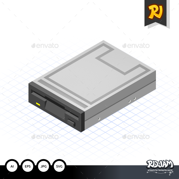 GraphicRiver Isometric Floppy Drive 10520283