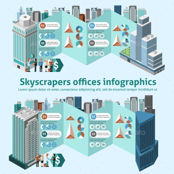 GraphicRiver Skyscraper Offices Infographics 10520490