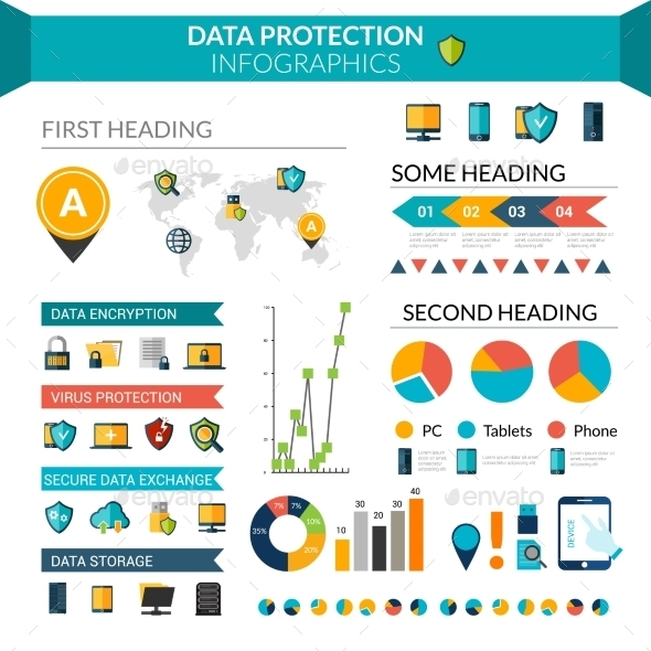 GraphicRiver Data Protection Infographics 10520531