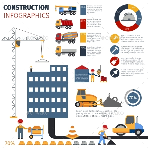 GraphicRiver Construction Infographics Set 10520540