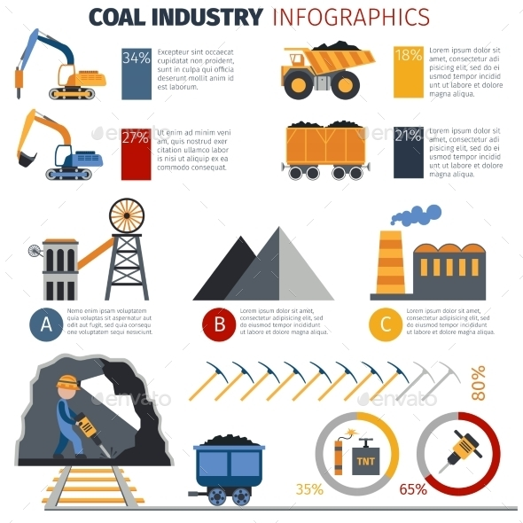 GraphicRiver Coal Industry Infographics 10520545
