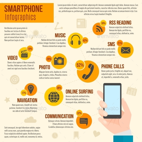 GraphicRiver Smartphone Infographics Set 10520567