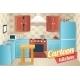 Kitchen Furniture Accessories Interior Cartoon Apa - GraphicRiver Item for Sale
