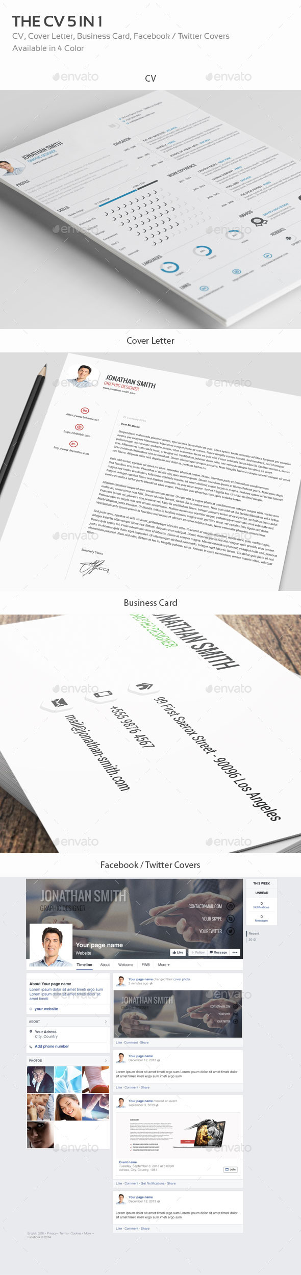 GraphicRiver The CV 5IN1 4 Color 10520614