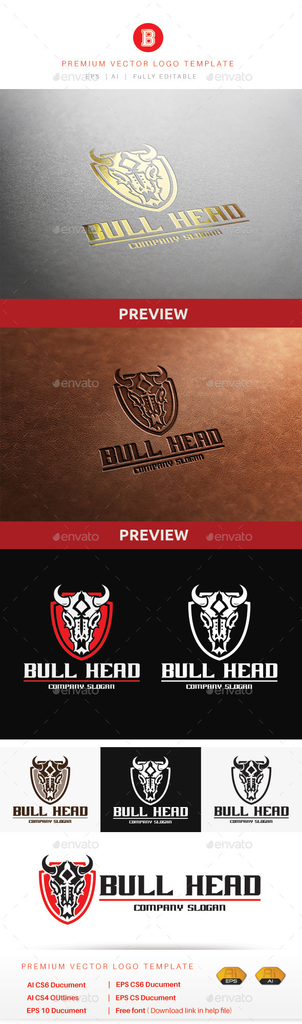 GraphicRiver Bull Head V.2 10520622