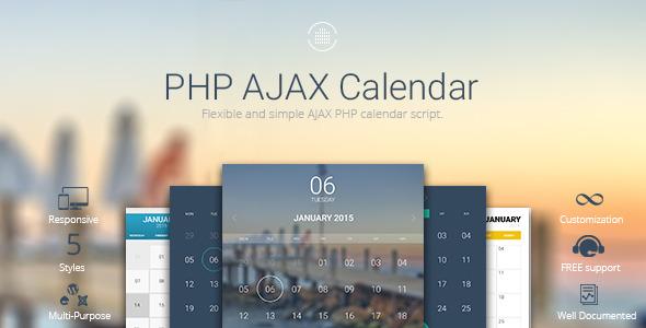 CodeCanyon AJAX Calendar Flexible PHP Calendar Script 10319377